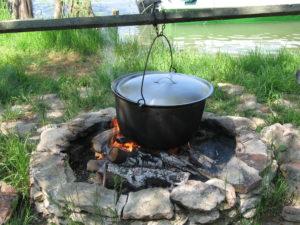cooking borscht