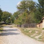 cobble stone street in Viscri