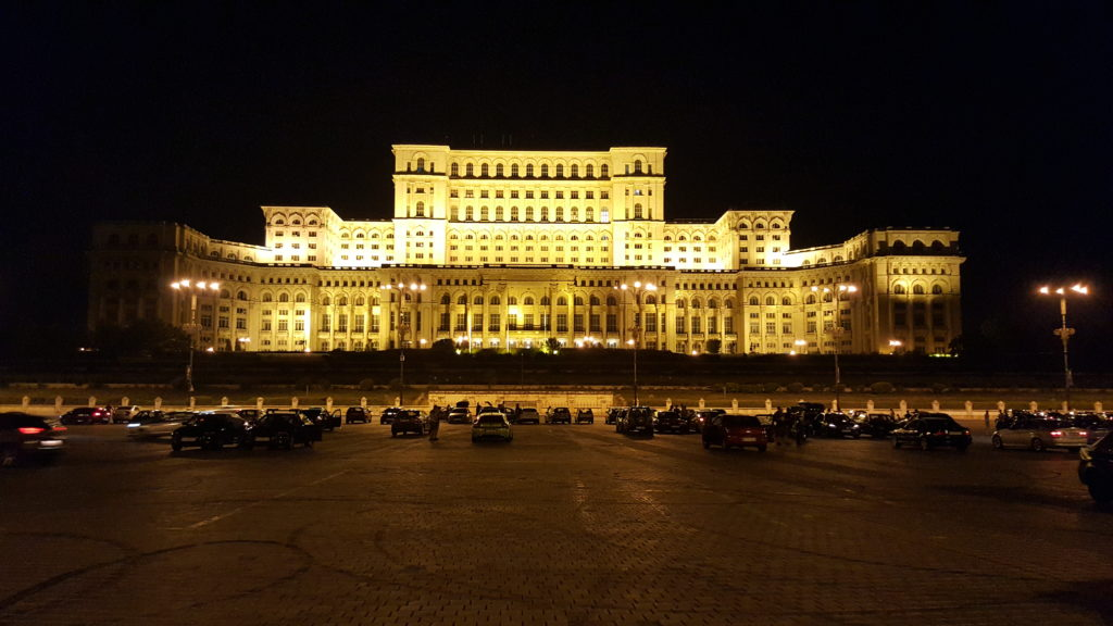 Parliament Palace by night